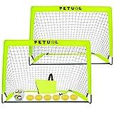 Oceanblues Portable Soccer Goal Set, Folding Fluorescent Football Goals with Carry Case, Kids& Adults Backyard Training Goals Size 49x34inch