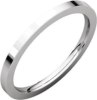 FB جواهر 925 فضة استرليني 1.5 مم مسطحة الراحة صالح الرجال خاتم الزفاف الفرقة