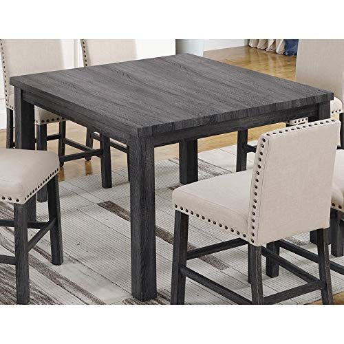 Best Master Furniture Antique Grey Counter Height Transitional Dining Table