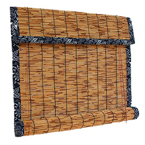 QL Cortina de láminas Cortinas de persiana de láminas Sombreado Retro Respetuoso del Medio Ambiente Impermeable y Moho, para Exteriores/Interiores, Personalizables
