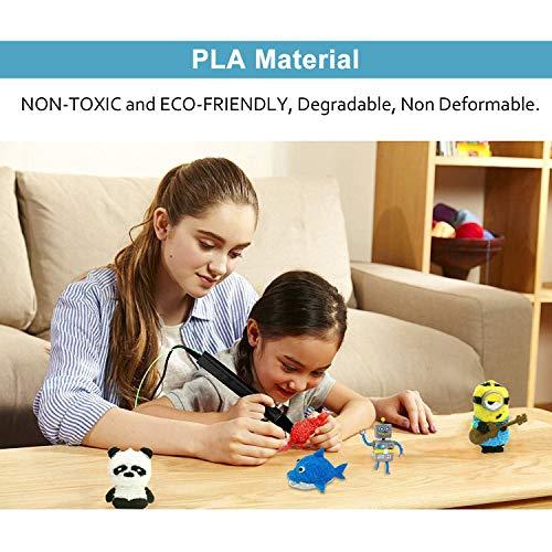 3D Stift Filament PLA, 20 Farben, je 10M – 3D Pen PLA Filament 1,75mm, 3D Stift Farben Set für ODRVM, Tecboss, Lovebay, 3D Stift and 3D Druck Stift - 4