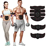 WEENOO 8 Pad Abs Stimulator Muscle Stimulator,Muscle Trainer Ultimate Abs Stimulator Ab Stimulator for Men Women,Work Out Power Fitness ABS Abdominal Trainer