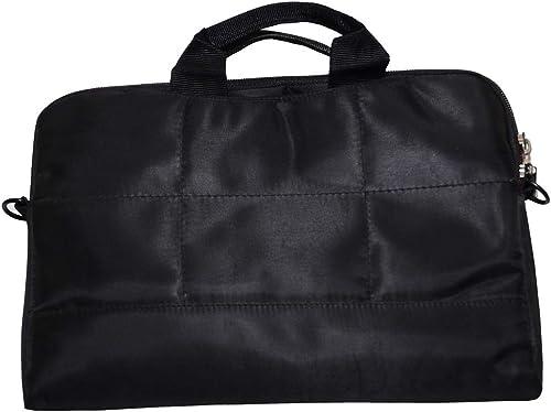 Kraftsbridge Premium Travel Organizer Bag Travel Handbags Travel Neck Stash Backpacks Shoe Bag Utility Handbag for Men and Women s Laptop Sleeves Bag Pouch Case Cover with Protective Handle for ipad laptop Tablet 14 inch 15 to 15 6 inch Black