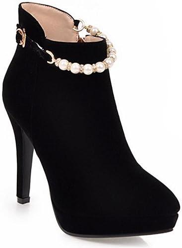 KUKI bottes féminines d'été pointues bottes nues bottes à talons hauts bottes femme grande taille bottes bon marché