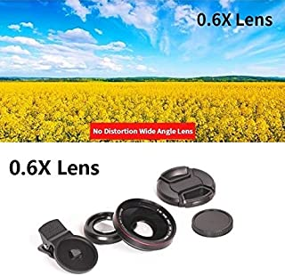 M - 4K HD Super 15X Macro Lens for Smartphone Anti-Distortion 0.6X Wide Angle Lens Optical Glass Mobile Phone Camera Lente...