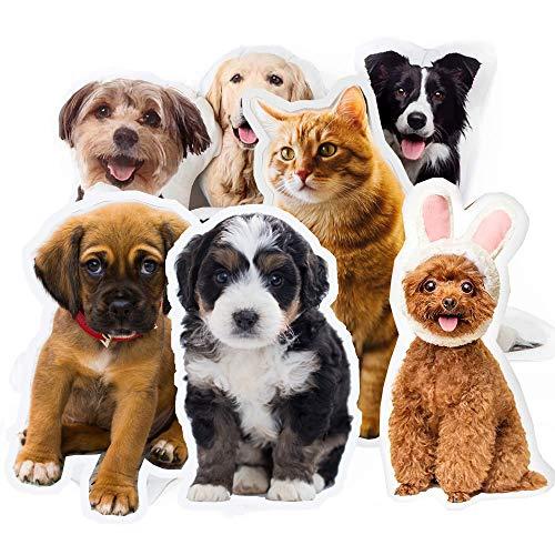 Personalisierte Haustier Kissen Hund Katze geformte Kissen, Doppelseitige 3D-Druck Foto Kissen Haustierkissen für Hund und Katze 16 Zoll