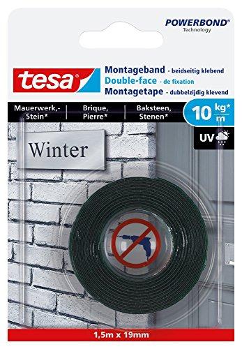 tesa Montageband für Mauerwerk und Stein, 1,5m x 19mm