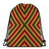 KKs-Shop Bolsos de Hombro Bolsa de Almacenamiento Deportivo Reggae Colors Crochet Knitted Style Vista Superior Collage Espejo Reflejo Rombo Seamless Kaleidoscope Monta
