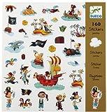 Djeco 022-01666 - Stickers, diseño pirata