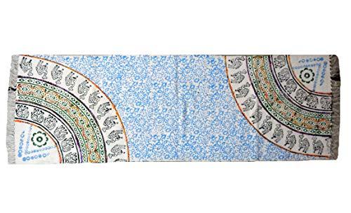 Handicraft Bazarr Bedruckter Bodenläufer, indisches Design, Dhurrie, abstraktes Muster, Baumwolle, Dari Teppich, groß, modern, Designerteppich, 7,6 x 152,4 cm, Dhurrie, indisch, wendbar, dekorativ