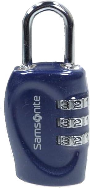 Indigo Blue Samsonite Travel Accessories Safe 3 Combi Lock Lucchetto per Valigie 7 cm