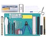 Poweka Kit de Herramientas Básicas para Gundam Modeler, Herramientas Básicas para Manualidades Construcción Artesanía, Herramientas Profesionales para Gundam Modelo de Coche Edificio
