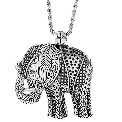 SOTUVO Collar de Elefante de la Suerte, joyería Creativa de aleación, Collar con Colgante de Elefante, Colgante de joyería de galvanoplastia de Metal