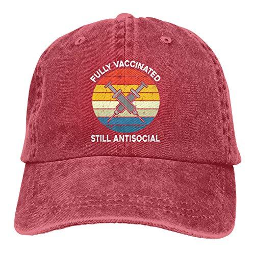 Jopath Totalmente vacunado todavía antisocial sombrero divertido vacuna béisbol gorra ajustable lavable algodón camionero