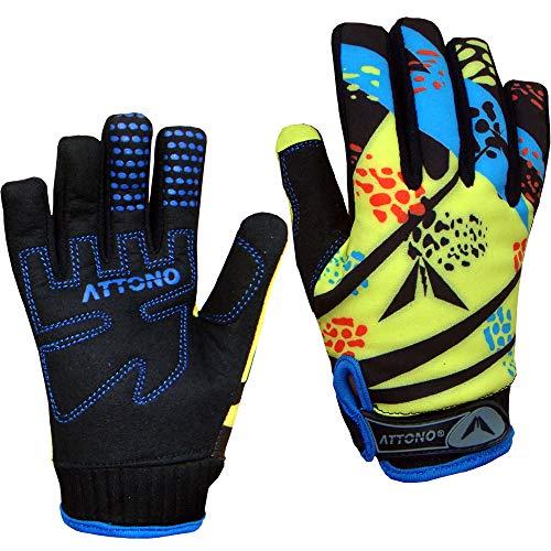 ATTONO Kinder Mountainbike Handschuhe Gel Fahrrad Warme Fahrradhandschuhe - Größe 4