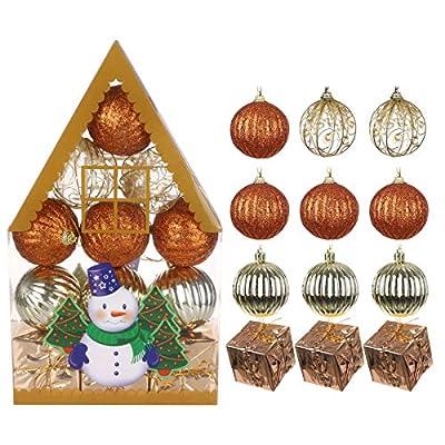 QIANSKY 12/20Pcs Christmas Balls Shatterproof X...