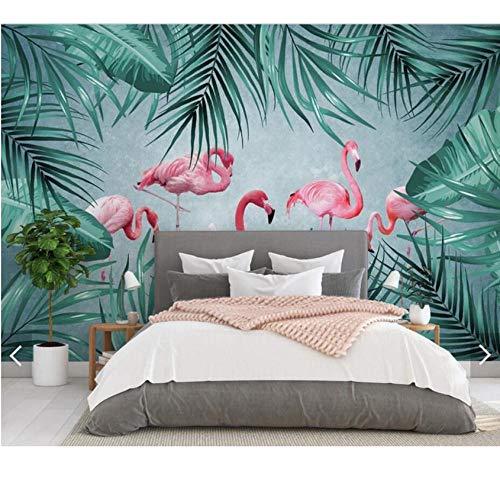 Xinghe wave Design Tapete 3D Tropical Flamingo Tapete Wandbild für Wohnzimmer Schlafzimmer Wanddekor Handgemalte Kontaktpapier Wandbilder Tapeten AnpassenHalloween - 1㎡(1 Quadratmeter)