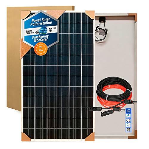 Plusenergy wccsolar Placa Solar Policristalina 280W + 10 MTS Cable + Conectores MC