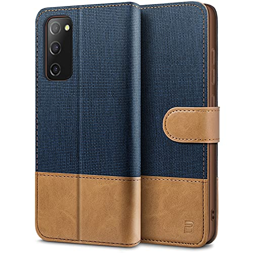 BEZ Funda Samsung S20 FE, Carcasa para Samsung Galaxy S20 FE 5G Libro de Cuero con Tapas y Cartera, Cover Protectora con Ranura para Tarjetas y Billetera, Cierre Magnético, Azul