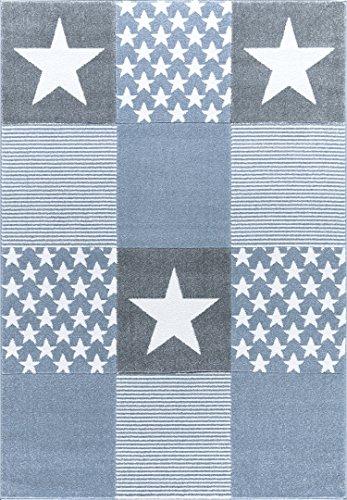 Livone Kinderteppich Happy Rugs STARWALK 3 blau/Silbergrau 120x180 cm