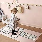 Tapis pour Enfant/Bébé Chambre éducatifs Belle lapin marelle rose Antidérapant Tapis de Jeu Portable pour Pique-Nique Jardin 80×120CM