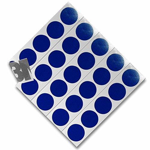 DonDo 3M 610C Reflektierendes Klebeband Reflexfolie Reflektorfolie Geocaching Punkte Reflektoren Nachtcache selbstklebend Blau D20mm