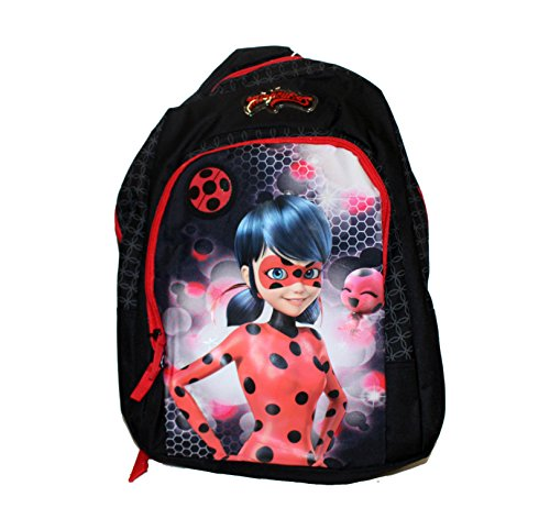 Vadobag Backpack Miraculous Tales of Ladybug Kinder-Rucksack, 44 cm, Black, Red