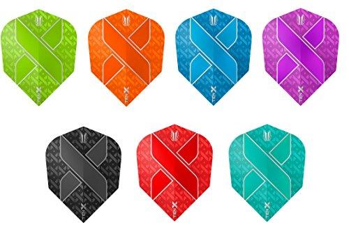 Bullydarts Target Ten-X Vision Ultra Mini Dart-Flights in Standardform, gemischt, 5 Sets (15 Flights)