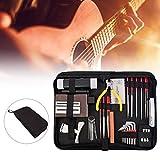 Qnotici Kit de reparación de guitarra Kit de mantenimiento de guitarra Conjunto de herramientas de mantenimiento