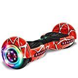cho Hoverboard with Bluetooth Speaker Electric Self Balancing Scooters with LED Colorful 6.5' Spider Wheels Safety Certified Hoverboards for Kids and Adults (Classic)