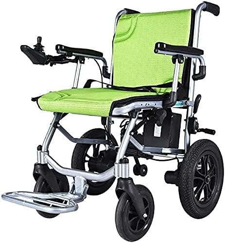 Sillas de Ruedas eléctricas para sillas de Ruedas eléctricas para Personas Mayores y discapacitadas, motorizadas, Plegables, Ligeras, de Aluminio de Lujo, con batería de Litio móvil de 14 kg, con con