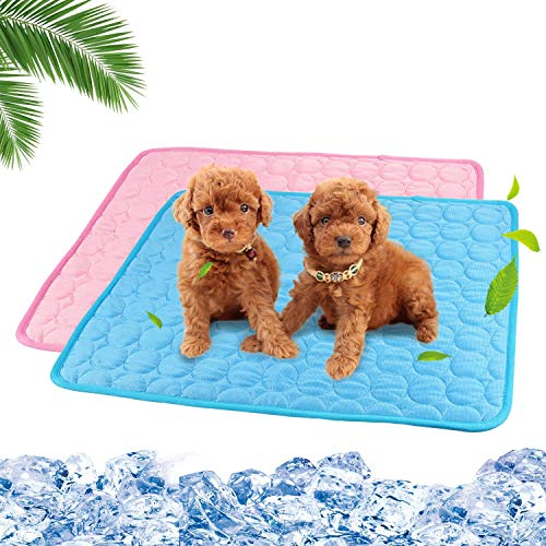2 Pack Dog Cooling Mat Washable Cooling Blanket for Dogs Cats Breathable Pet Pad