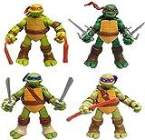 Temprano en la mañana Teenage Mutant Ninja Turtles Modelos Q Versión 4 Muñecas móviles Figuras de acción Juguetes