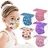 50Pcs Kids Disposable Face_Mask Childrens 3Ply Breathable Cute Face_mask Girls Boys Cartoon Animals Face_mask for School