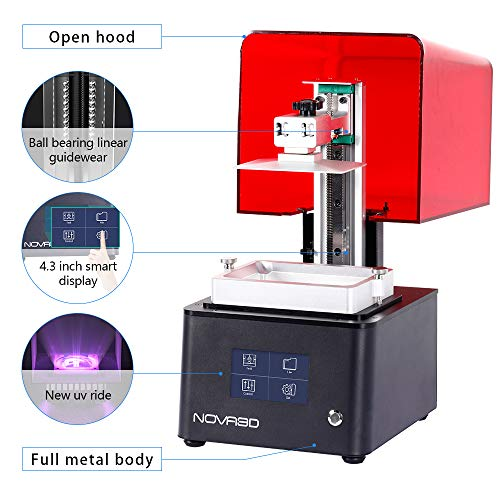 """""""NOVA3D Bene4 LCD 3D Printer with 4.3inch Smart Touch Screen and Upgraded UV Light 130X70X150MM Print Size"""" - 6"""