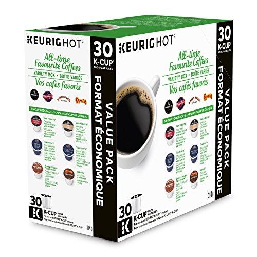 Keurig All-Time Favorite Coffees Variety Box K-Cup Single Serve Keurig Certified K-Cup pods for Keurig brewers, 30 Count