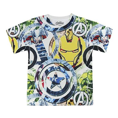 The Avengers S0713652 Camiseta, Blanco, 6 años Unisex niños
