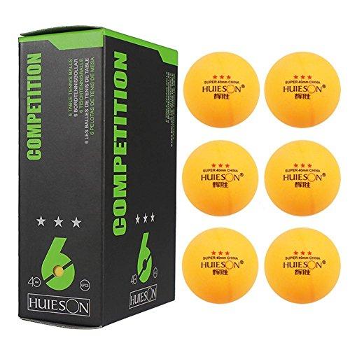 LiféUP 6 Piezas Pelota de Ping Pong, Pelotas Tenis Mesa Tres Estrellas, 40 mm /1.57 Pulgadas de diámetro 2.9 g Pelota de Tenis de Mesa para Entrenamiento de competición