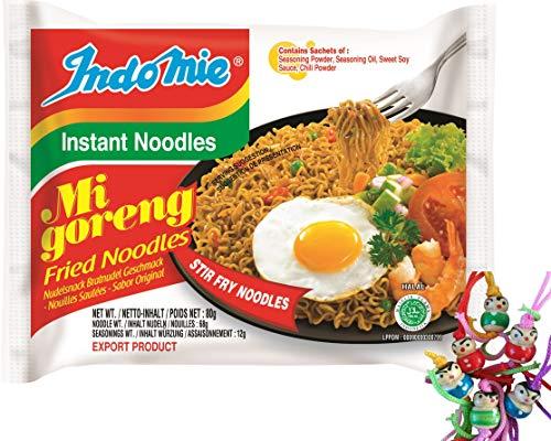 [ 10x 80g ] IndoMie Instant Noodles MI GORENG Gebratene Nudeln - fried noodles + ein kleines Glückspüppchen - Holzpüppchen
