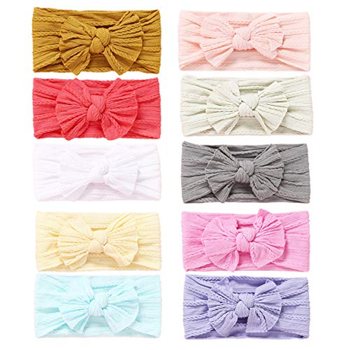 Baby Girl Nylon Headbands Newborn Infant Toddler Hairbands and Bows Child Hair Accessories (2019LXZB)
