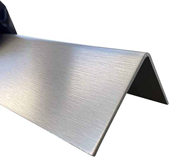 Edelstahl Winkel Profil K240 geschliffen 2000m lang 0,8mm stark V2A Schutzleiste Winkel Innenma/ß 20x30mm