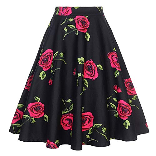 Momoxi Gonna di Leopardo Elastica in Vita da Donna50s Sottogonna Petticoat Organza Retro Vintage Mini gonne Puffy Rockabilly