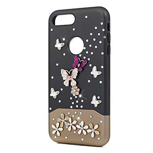 MOTIKO - Funda para iPhone 7 Plus, iPhone 8 Plus, Doble Capa a Prueba de Golpes, Gel Flexible y anticaída