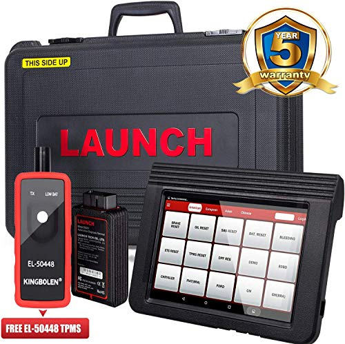 Launch X431 V Pro Bi-Directional OBD2 Diagnostic Scanner, Key Fob Programming, ECU Coding, ABS Bleeding Brake, Reset Functions Including Oil Reset, EPB, SAS, DPF, BMS, SRS, TPMS,EL-50448 TPMS activation tool As Gift.