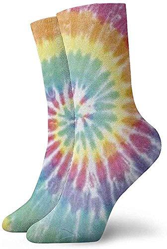 iuitt7rtree Casual Crew Socken, Funny Socks, Custom Novelty Socken, Damen/Herren Sportsocken, Halloween Cosplay Socken, Pastell Spiral Tie Dyetube Socken 30CM Classic Socken Fußball Socken