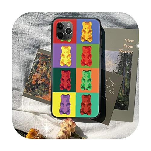 Cute gummy bear Phone Case Cover Hull For iphone 5 5s se 2020 6 6s 7 8 12 mini plus X XS XR 11 PRO MAX black Shell Luxury Bumper-10-6Plus or 6SPlus