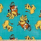 Disney 0645780 Lion King Fleece Hakuna Matata Teal Stoff,