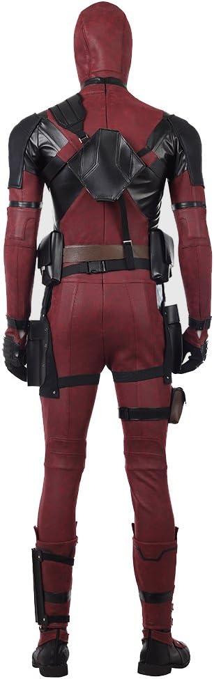 Deadpool 2 Kostuum Wade · wilson Cosplay Jumpsuit Halloween Carnaval Leer Fancy Dress Bodysuit Pak Filmfans Kleding Aanpassing,Man/M/173~177cm Woman/XS/153~157cm