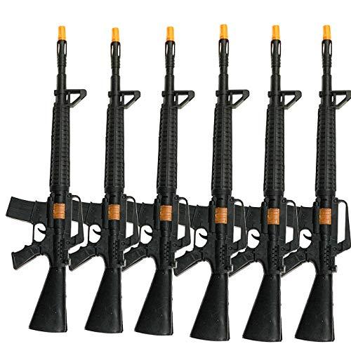 Acan Pack de 6 metralletas con Sonido en Color Negro 55.5 x 14 cm
