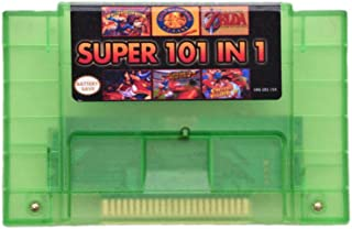 Transparent Green 101 in 1 SG Genesis Mega Drive game cartridge 16 bit 46pin video game cartridge